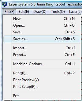Select menu to save file.