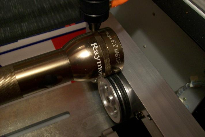 Engraving on the driven diameter.