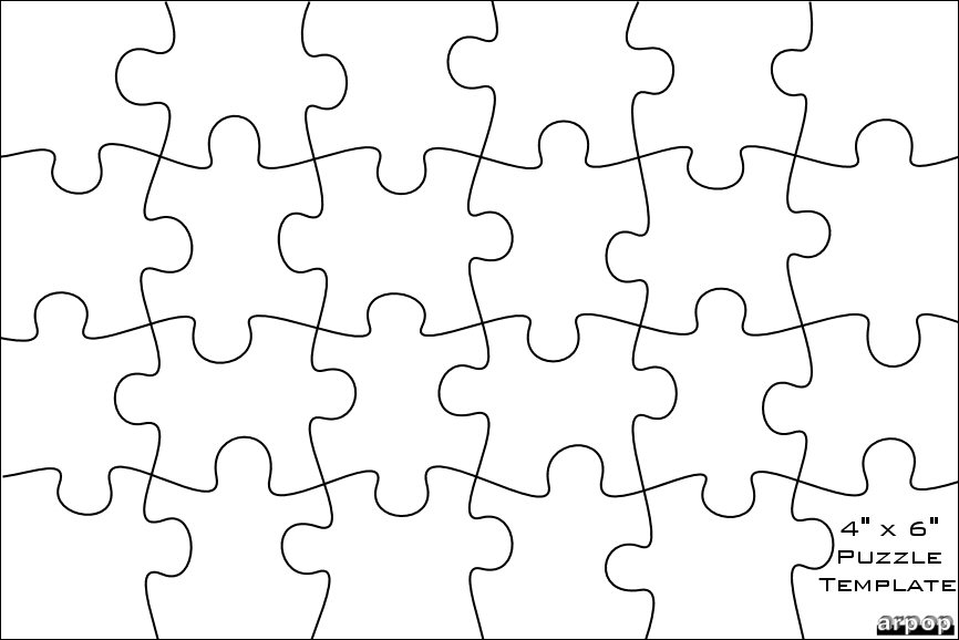 Jigsaw Puzzle Template Jigsaw Puzzles Template